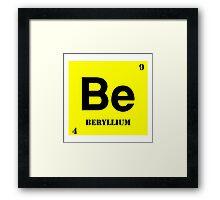 Beryllium Framed Print
