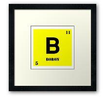Boron Framed Print