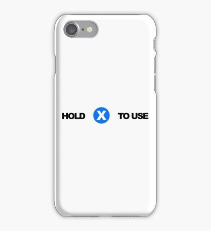 Hold X To Use iPhone Case/Skin