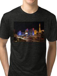 Sparkling Las Vegas Neon - Zooming Along the Strip Tri-blend T-Shirt