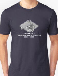 "U.S. Navy - Curtiss F9C-2 ""Sparrowhawk"" Fighter (White) T-Shirt"