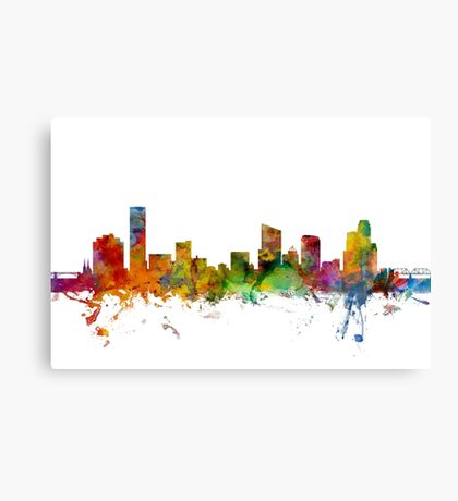 Grand Rapids Michigan Skyline Canvas Print