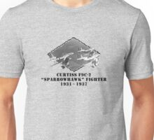 "U.S. Navy - Curtiss F9C-2 ""Sparrowhawk"" Fighter Unisex T-Shirt"