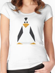 Geometric penguin Women's Fitted Scoop T-Shirt