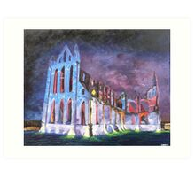 Whitby Abbey Illuminations Art Print