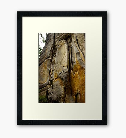 Face of Stone - Nature Photography Framed Print