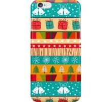 Merry Christmas seamless pattern iPhone Case/Skin