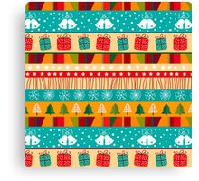 Merry Christmas seamless pattern Canvas Print