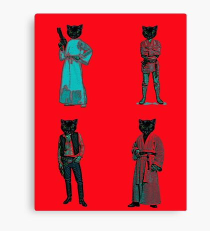 cat solo and gang Canvas Print