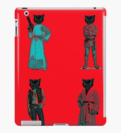 cat solo and gang iPad Case/Skin
