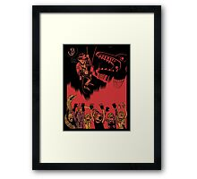 Why Did It Have To Be Snakes -black- Framed Print