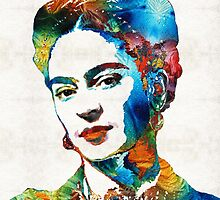 Frida Kahlo Art - Viva La Frida - By Sharon Cummings by Sharon Cummings