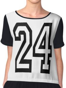 24, TEAM, SPORTS, NUMBER 24, TWENTY, FOUR, Competition,  Chiffon Top