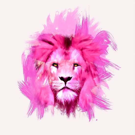 """Pink Lion"" Posters by levman 