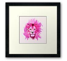 Pink Lion Framed Print