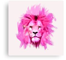 Pink Lion Canvas Print