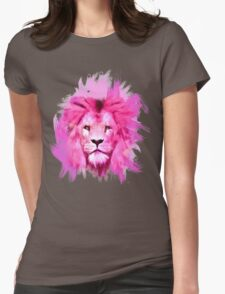 Pink Lion Womens Fitted T-Shirt