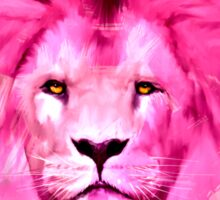 Pink Lion Sticker