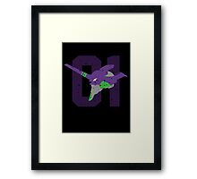 Eva 01 Silhouette Framed Print