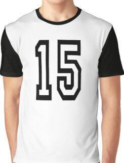 15, TEAM SPORTS, NUMBER 15, FIFTEEN, FIFTEENTH, Competition,  Graphic T-Shirt