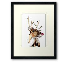 Rudolf the red nosed Reindeer Framed Print