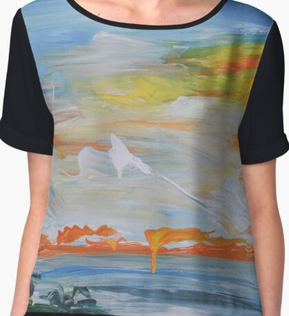 Sunset At The Beach Chiffon Top