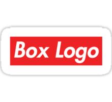 """Box Logo"" T-shirt Sticker"