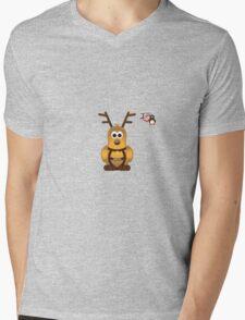 Christmas Penguin - Dancer Mens V-Neck T-Shirt