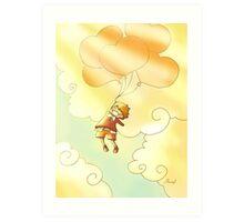 John in the sky Art Print