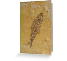 Fish Fossil Greeting Card