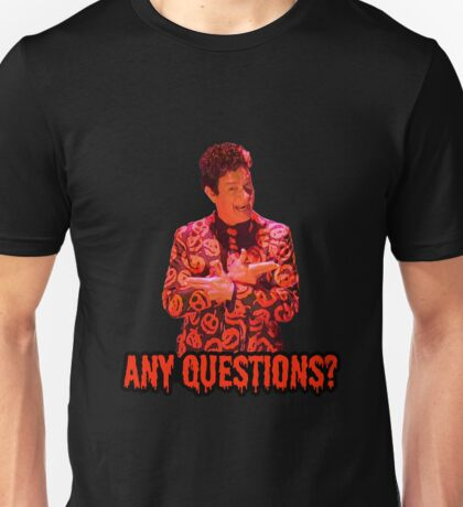 David S. Pumpkins - Any Questions? II - Black Unisex T-Shirt