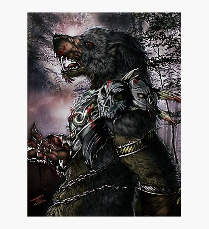 Werewolf - The warlord Photographic Print