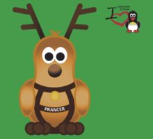Christmas Penguin - Prancer Kids Tee