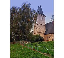 The village church of Kronstorf I   architectural photography Photographic Print