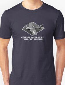 "U.S. Navy - General Motors FM-2 ""Wildcat"" Fighter (White) T-Shirt"
