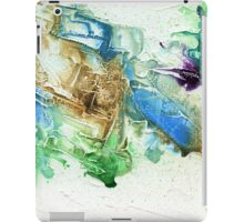 Green, blue and brown abstract iPad Case/Skin