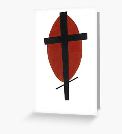 suprematism abstract art cross Greeting Card