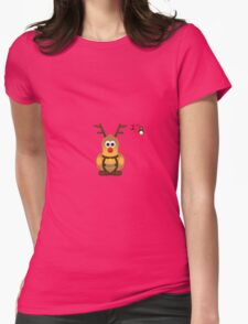 Christmas Penguin - Roofdog (Rudolph) Womens Fitted T-Shirt