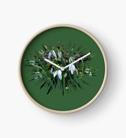Snowdrops............. Clock