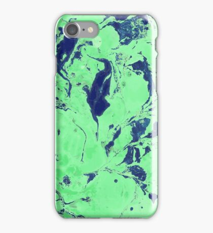 Green and blue marble texture. iPhone Case/Skin