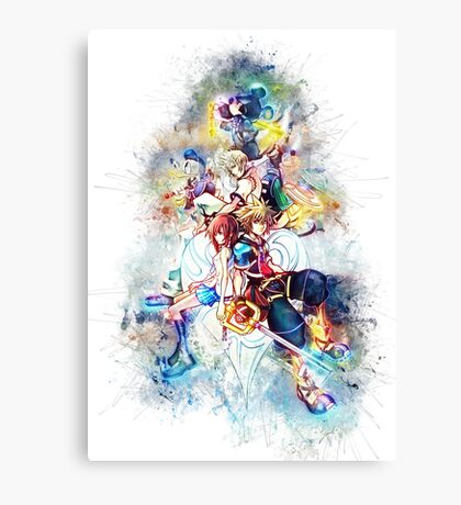 Kingdom Hearts Family Canvas Print