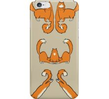 Cat damask brown  iPhone Case/Skin