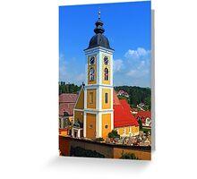 The village church of Niederwaldkirchen II | architectural photography Greeting Card