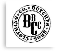 Butcher Bros Clothing Canvas Print