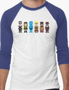 8-Bit Super Heroes 4: The Watch Guys Men's Baseball ¾ T-Shirt