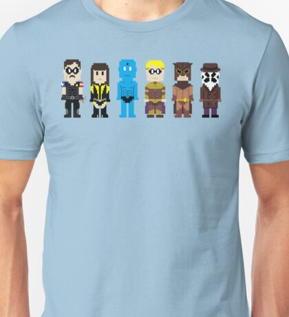 8-Bit Super Heroes 4: The Watch Guys Unisex T-Shirt
