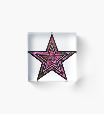 Star Acrylic Block