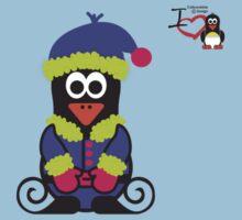Christmas Penguin - Elf 02 Kids Tee