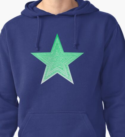 Mint Green Star Pullover Hoodie