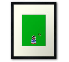 Christmas Penguin - Kid Framed Print